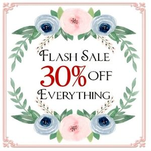 FLASH SALE 30% OFF SAVINGS CLEARANCE BOGO